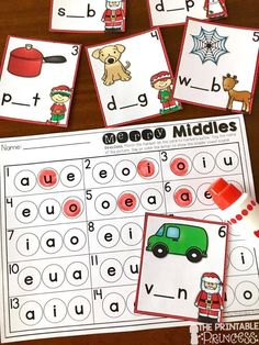 Fun and FREE Bingo dabber center - perfect for December in Kindergarten! Easy prep.