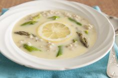 Barley and Asparagus Avgolemono Soup