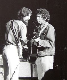George Harrison and Bob Dylan (during Concert For Bangladesh)