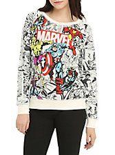 Marvel Heroes Comic Reversible Girls Pullover Top,