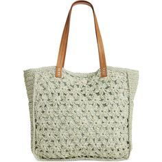 Straw Studios Flower Crochet Tote ($30) ❤ liked on Polyvore