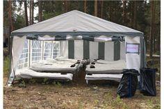 Madrasser och sängkläder till branddrabbade - Smålänningen Gazebo, Outdoor Structures, Kiosk, Deck Gazebo