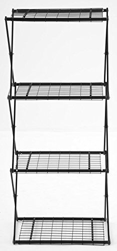 Flower House Exy EXY41B 4Tier Shelving System Black