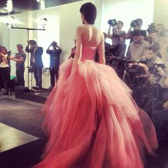 Blush wedding gown by Vera Wang, fall 2014 collection. Photo: Charanna K. Alexander/The New York Times