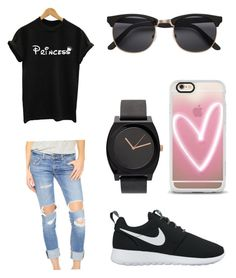 """Lazy day"" by tayhanie on Polyvore featuring rag & bone/JEAN, NIKE, H&M and Casetify"