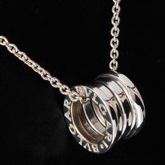 bvlgari b zero 1 pendant necklace in 18k white gold b
