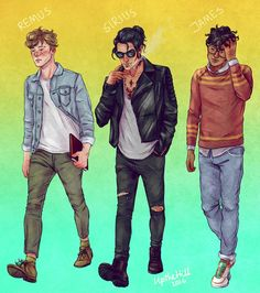 remus lupin, sirius black and james potter by upthehillart - the marauders Harry Potter World, Fanart Harry Potter, Arte Do Harry Potter, Yer A Wizard Harry, Harry Potter Universal, Harry Potter Fandom, Harry Potter Hogwarts, Harry Potter Memes, Potter Facts