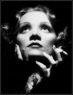 Marlena Dietrich, in the days before fake nails and photoshop