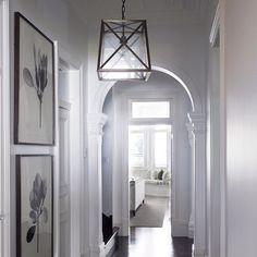 Norfolk lantern with cross bars in its natural habitat....a beautiful classical entrance hall.  #architecture #australianmade #decorating #home #hamptons #housebeautiful #interiors #islandbench #interiorstyle #interiordesign #interiordecorating #lights #lighting #renovating