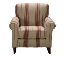 Palmer Stripe Red Accent Chair $369.99