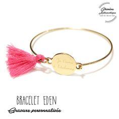 Bracelet JONC EDEN avec Gravure sur mesure * Création personnalisée * : Bracelet par chimere-melancolique