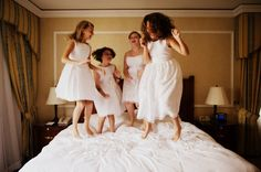 I want a picture jumping on the bed with my flower girl before my wedding. Flower Girl Pictures, Flower Girls, Flower Girl Dresses, Wedding Film, Wedding Photos, Dream Wedding, Wedding Stuff, Film Inspiration, Wedding Inspiration