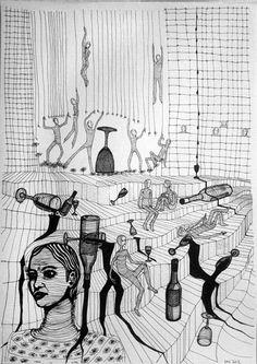 we leave now mnutz 2012 Pen Drawings, Black And White, Paper, Art, Art Background, Black N White, Black White, Kunst, Performing Arts