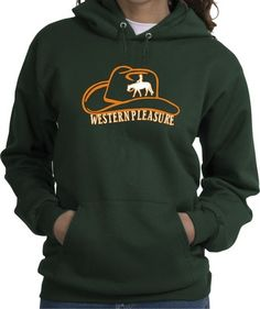 Western Pleasure Hat with Horse and Rider Hoodie. HEY. I need dis.