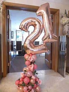 Our freestyle organic balloon creation was a beauty to make with tumbling Ivy & elegant silk flowers. 21st Birthday Decorations, Balloon Decorations Party, Birthday Parties, Birthday Month, Elegant Party Decorations, Birthday Celebrations, Birthday Gifts, 21 Balloons, Number Balloons