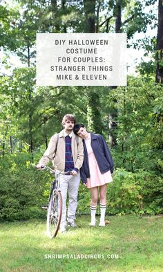DIY Stranger Things Halloween Costume - Dress up as Mike and Eleven from the hit @Netflix show! These costumes are perfect ideas for kids, couples, or groups of friends for any Halloween party!