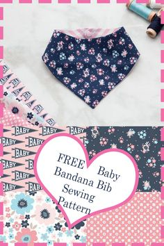 Make this trendy baby bandana bib today. Sew the perfect gift for your friends baby shower. Make this trendy baby Sewing For Kids, Baby Sewing, Free Sewing, Baby Outfits, Trendy Baby, Bandana Bib Pattern, Baby Bibs Patterns, Dress Patterns, Beginner Sewing Patterns