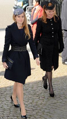 HRH Princess Beatrice and her mother Sarah, Duchess of York - 13th March 2014