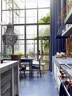 Beautiful windows and stainless countertop tumblr_lw3l7q2pDR1qb9wx5o1_500 by coco+kelley, via Flickr