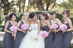 black and grey wedding | ... Color Palette, Gray and Pink Bridesmaid Party, Gray and Pink Wedding