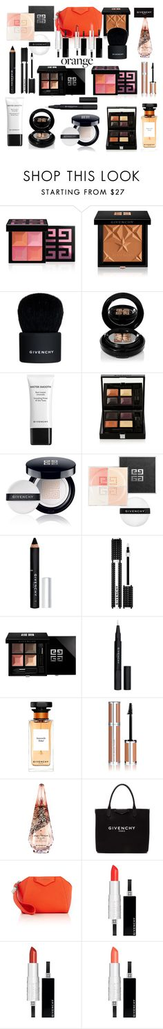 """Orange you Givenchy"" by ellenfischerbeauty ❤ liked on Polyvore featuring beauty and Givenchy"