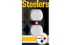 Pittsburgh Steelers Football Outlet Cover by Crazy8Zdecor on Etsy, $6.99