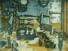 Richard Bawden Clutter Art Interiors, Clutter, Objects, Inspire, Treats, Texture, Colour, Drawings, Artist