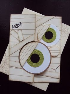 2015 DIFFERENT HALLOWEEN CARDS  using the Thinlits Circke Card, Various size Circles & Ovals, Label Bracket Punch.