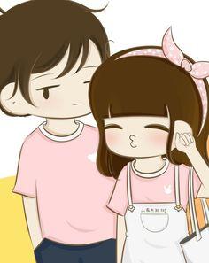 Love Cartoon Couple, Cute Couple Comics, Couples Comics, Cute Cartoon Girl, Cute Cartoon Images, Cute Cartoon Wallpapers, Cartoon Art, Cute Couple Wallpaper, Diy Gifts For Him