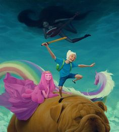 "supersonic electronic / art - Jeremy Enecio. ""Adventure Time"" by Jeremy Enecio."