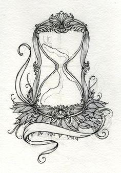 desenhos de ampulheta para tatuagem - Pesquisa Google