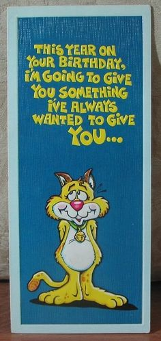 MARK 1 Inc. 1977 Vintage Greeting Card Style 37A Happy Birthday 1.8P723B481217JUNK0312   http://ajunkeeshoppe.blogspot.com/