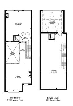 1 St Thomas Townhouses B & C Floor Plans Levels 3 & Lower 4185 Square Feet Victoria Boscariol Chestnut Park Real Estate