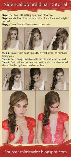 Side Scallop Braid Hair Tutorial
