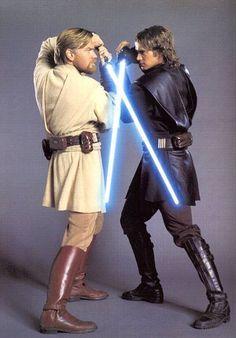 fce08300a Obi Wan Kenobi (Ewan McGregor) and Anakin Skywalker (Hayden Christensen) in  the