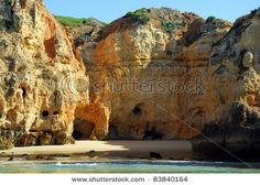 Beach in Lagos in the Algarve Portugal