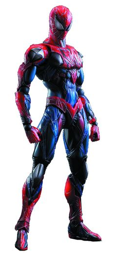 From Square Enix. Spider-Man is an iconic Marvel character who has appeared in various media, including comics, animation, and film. In this Marvel Universe Variant, his joints were designed with one