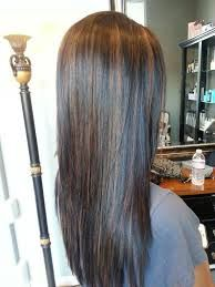 caramel highlights on black hair - Google Search