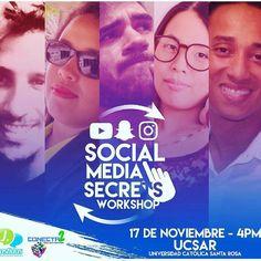 Mañana estaré en la universidad católica santa rosa conversando sobre la #MarcaPersonal estaré acompañada por 4 grandes profesionales dictando el #SocialMediaSecrets. Evento organizado por @conecta2sm me acompañas?  #Caracas #PersonalBranding #SocialMedia #Marketing #MarketingDigital #DigitalMarketing