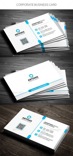 Corporate Business Card Tempalte #design Download: http://graphicriver.net/item/corporate-business-card/12907814?ref=ksioks