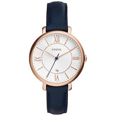 Fossil Women's Jacqueline Blue Leather Watch – Women's Watches – Jewelry & Watches – Macy & # s; Fossil Watches, Cool Watches, Women's Watches, Cheap Watches, Citizen Watches, Analog Watches, Ladies Watches, Wrist Watches, Watches Online