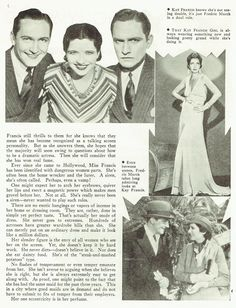Kay Francis Fredric March in  screen review april 1932