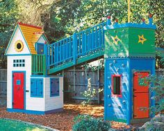 My kids will have and awesome clubhouse like this.