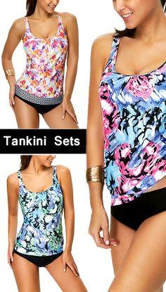 e92fa1aba4fd5 Tankini Sets Plaj Kıyafetleri, Yazlık Giysiler, Plaj Voleybolu, Yaz Elişi,  Mayolar