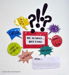 I ara què faig? Classroom Organization, Classroom Decor, Classroom Posters, Literacy, College, Teaching, Creative, Primers, Ideas Para