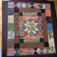 Pattern from a book on Welsh quilts. Pieced and quilted by G.Carlton