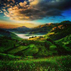 Golden Hills Bjelasnica, Bosnia-Herzegovina visit: 500px.com/bezdan to see it in full quality  #nature #landscapes #sunrise #balkans #sarajevo #bosnia