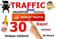 I will drive unlimited real website traffic, visitor for 30 days Fiverr Gig URL