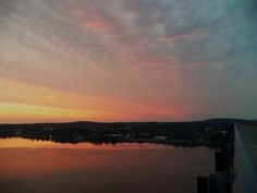 Sunset on The Walkway over the Hudson  Poughkeepsie NY