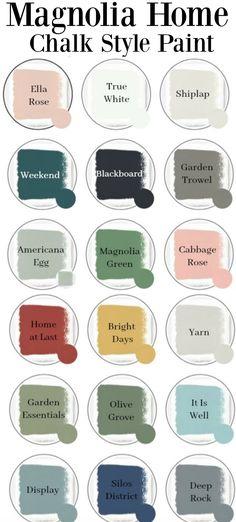 42 Best Magnolia Paint Colors Images In 2020 Magnolia